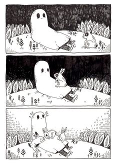 even a sad ghost can't be sad all of the time.