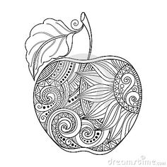 Vector Monochrome Contour Apple - Download From Over 40 Million High Quality Stock Photos, Images, Vectors. Sign up for FREE today. Image: 60544248