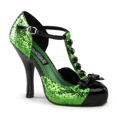 i love these !!!! Funtasma Heels Festive Green Glitter Costume Shoes  http://stores.hoodooshoes.com/-strse-1010/Funtasma-Festive-Green-Glitter/Detail.bok