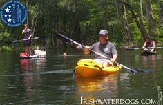 Veterans heal while kayaking The Ichetucknee River, Florida with IRISHWATERDOGS. June 2013