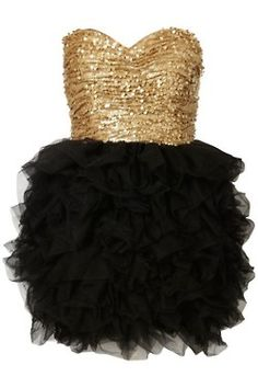 golden and black tulle.....Waller Show Choir??? LOL (but secretly love this anyway!)