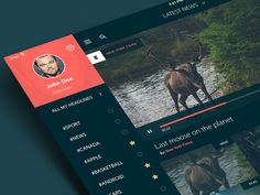 Hey guys! Check out simple UI concept for videonews app. PS: Actual size attached ;)