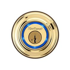 Buy the Kwikset Lifetime Polished Brass Direct. Shop for the Kwikset Lifetime Polished Brass Kevo Single Cylinder Bluetooth Deadbolt and save. Electronic Deadbolt, Deadbolt Lock, Electronic Lock, Bluetooth, Smart Door Locks, Gadget World, Brass Metal, Home Automation, Browning