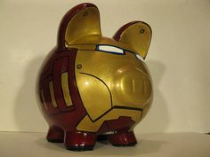 Robot Piggy Bank Inspired by Ironman Unofficial por PigPatrol