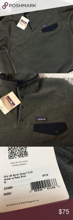 ae30089e7a Patagonia Men s Snap Synchilla Jacket Gray Sz M Brand new with tags .