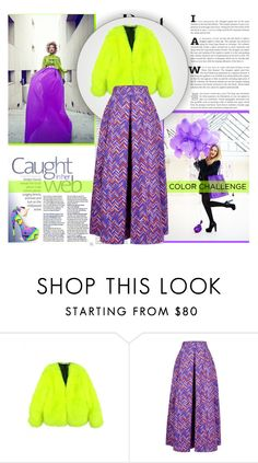 """""""Color challenge"""" by smasy ❤ liked on Polyvore featuring H&M, Roksanda and Red Kiss"""