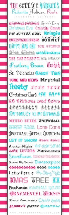 50 Free Holiday Fonts - The Cottage Market