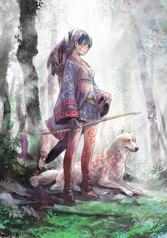 Japanese anime illustration art