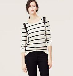 Ann Taylor Loft lace trim sweater