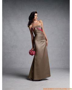 Boutique robe de soirée glamour originale bustier ornée de pli en satin