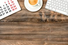 Office desk IPad with Calendar by LiliGraphie on Creative Market