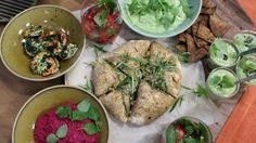 Gezellig aperitieven: sangria, dipbrood, nacho's, gamba's in look, gazpacho en…