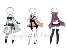 Naruto Outfit Adopts 3 (CLOSED) by SpringPeachAdopts.deviantart.com on @DeviantArt