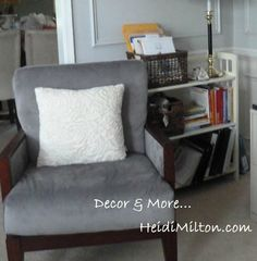 Mom Cave chair-trying to find a place for rest in your home.  #fancylittlethings