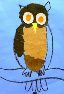 Deep Space Sparkle – Paper Owl Art Lesson
