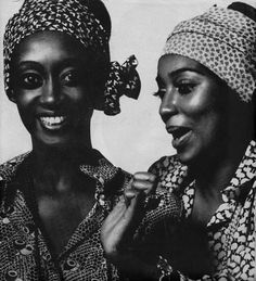 Princess Elizabeth of Toro (Uganda), and Charlene Dash - Harper's BAZAAR circa 1969