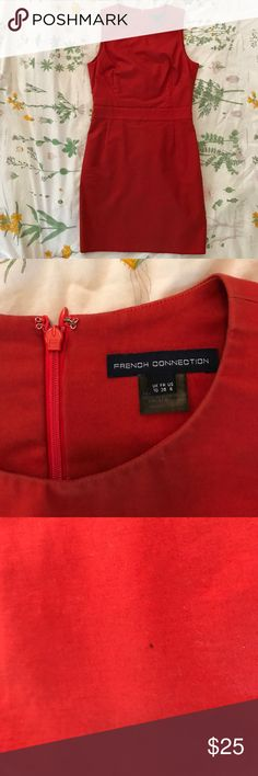 French Connection Sz 6 Class Red Dress Worn & loved! Still has lot of wear left. French Connection, Size 6, beautiful red color. ♥️♥️currently selling nearly everything I own & putting it towards post-grad travel funds and charity. make a reasonable offer or bundle and I will happily accept & show love to your page! Thanks for stopping by & happy shopping!🛍💌 French Connection Dresses Wedding
