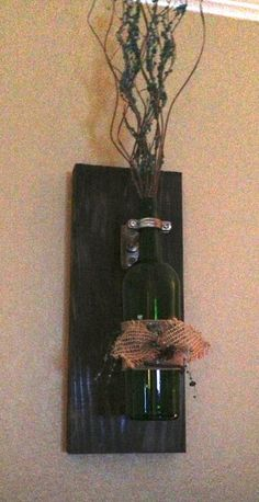 Bottle wall sconces wall hanging decorative wine by AdellesAvenue