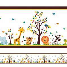 Faixa Decorativa Safari Infantil Transforme o quarto do seu filho com esta linda faixa decorativa.