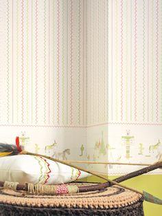 Collection ARC-EN-CIEL Wallpaper : Enfants, jeux, tipi, vert, lumière