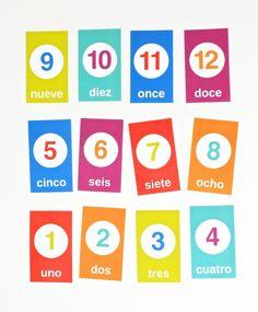 Spanish Counting Flashcards