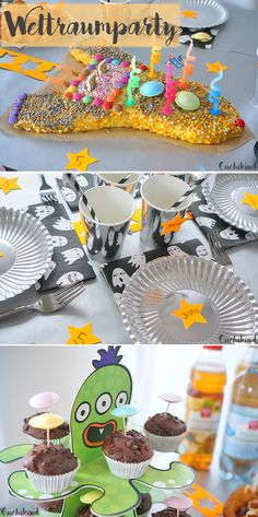 Alles für die Weltraumparty: Dekoration, Raketenkuchen, Food, Spielideen, Mitbringsel