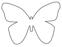 Druckvorlage Schnittmuster Schmetterlinge