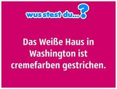 """...das """"Weiße Haus"""" ist gar nicht weiß. -  http://www.wusstest-du.com/wp-content/uploads/2016/06/weißes-haus-ist-cremefarbend-1024x787.jpg - http://www.wusstest-du.com/das-weisse-haus-ist-gar-nicht-weiss/"""