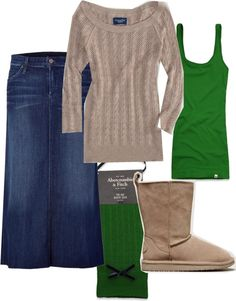 """winter green"" by holiness-preachers-wife ❤ liked on Polyvore"
