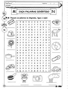Caça-palavras Letras M e N ortografia Professor, Classroom, Learning, School, Gabriel, Fathers, Pokemon, Printables, Activity Books