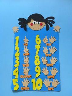 Age Use fingers to Numbers Preschool, Preschool Classroom, Classroom Decor, Kindergarten, Art For Kids, Crafts For Kids, Arabic Alphabet Letters, Classroom Birthday, Counting Activities