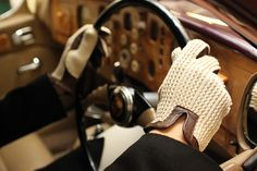 Dents leather gloves. Read our interview with Deborah Moore, CEO of Dents, makers of the finest English leather gloves: http://www.merchantandmakers.com/dents-leather-gloves/