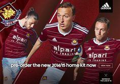 West Ham United Fc 'nin yeni sezonda giyeceği forma..