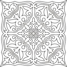узор для росписи Stencil Patterns, Doodle Patterns, Coloring Book Art, Colouring Pages, Deco Cuir, Aluminum Foil Art, Stencils, Stenciled Floor, Printable Adult Coloring Pages