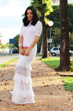 Vestido branco da Galeria Tricot - Blog da Mariah