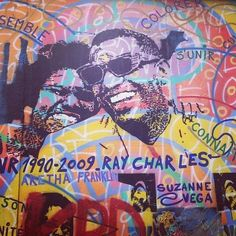 street-art : images curated on kweeper Ray Charles, Berlin Wall, James Brown, Graffiti, Street Art, Caption, Music, Life, Musica