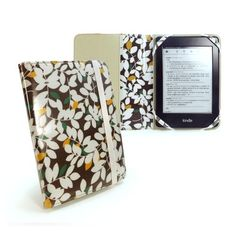 """Tuff-Luv Slim fabric Fashion oil-cloth case cover for 6"""" ereaders - Brown : Foliata Range by Tuff-luv. $29.99. This bright yet simplistic Foliata Brown case can be a fantastic addition to your Amazon Kindle Paperwhite / Touch / 6"""" E-Ink / 4. When you're out and about, make sure your Amazon Kindle Paperwhite / Touch / 6"""" E-Ink / 4 is the perfect accessory. We have such confidence in the quality of this beautifully designed case we offer a LIFETIME GUARANTEE.Our s..."""