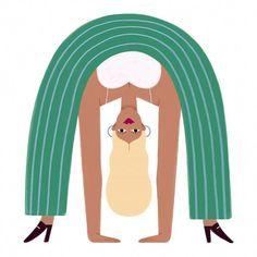 Take a break and let loose. artwork by Yoga Illustration, Character Illustration, Graphic Design Illustration, Digital Illustration, Building Illustration, Creative Illustration, Pattern Illustration, Design Poster, Art Design