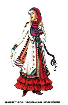Illustration of Bashkir attire.