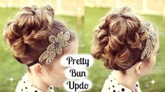 Bun Hairstyles Updo Tutorial for Prom / Wedding | Romantic Bun Updo |