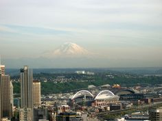 Mt. Rainier from the Space Needle in Seattle