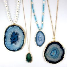 Blue crystal Agates by Amanda Marcucci