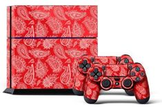 PS4 Console Designer Skin for Sony PlayStation 4 System plus Two2 Decals for PS4 Dualshock Controller Paisley Red >>> You can get more details by clicking on the image.Note:It is affiliate link to Amazon. #PlayStationGames