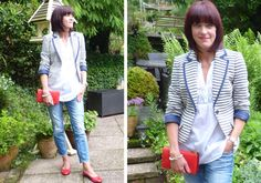We challenged blogger My Midlife Fashion to show us how to do dressed-down tailoring...