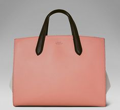 The 1887 handbag in blush with contrasting dove grey wings.   #ArtOf1887 Discover the 1887:http://www.smythson.com/collections/1887.html