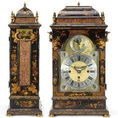 A fine, rare japanned musical table clock, Simon De Charmes, London, circa 1715 Sotheby's