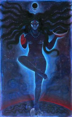 """""""At the dissolution of things, it is Kala [Time] Who will devour all, and by reason of this He is called Mahakala [an epithet of Lord Shiva], and since Thou devourest Mahakala Himself, it is Thou who art the Supreme Primordial Kalika. Because Thou devourest Kala, Thou art Kali, the original form of all things, and because Thou art the Origin of and devourest all things Thou art called the Adya [primordial Kali]. Resuming after Dissolution Thine own form, dark and formless... (IAQ)…"""