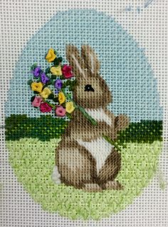 bunny with flowers 2016