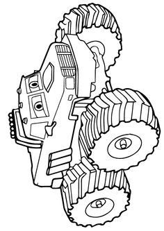 Download Grave Digger Monster Truck Coloring Pages Printable ...