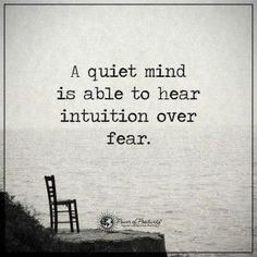 Sometimes you have to be still  and listen